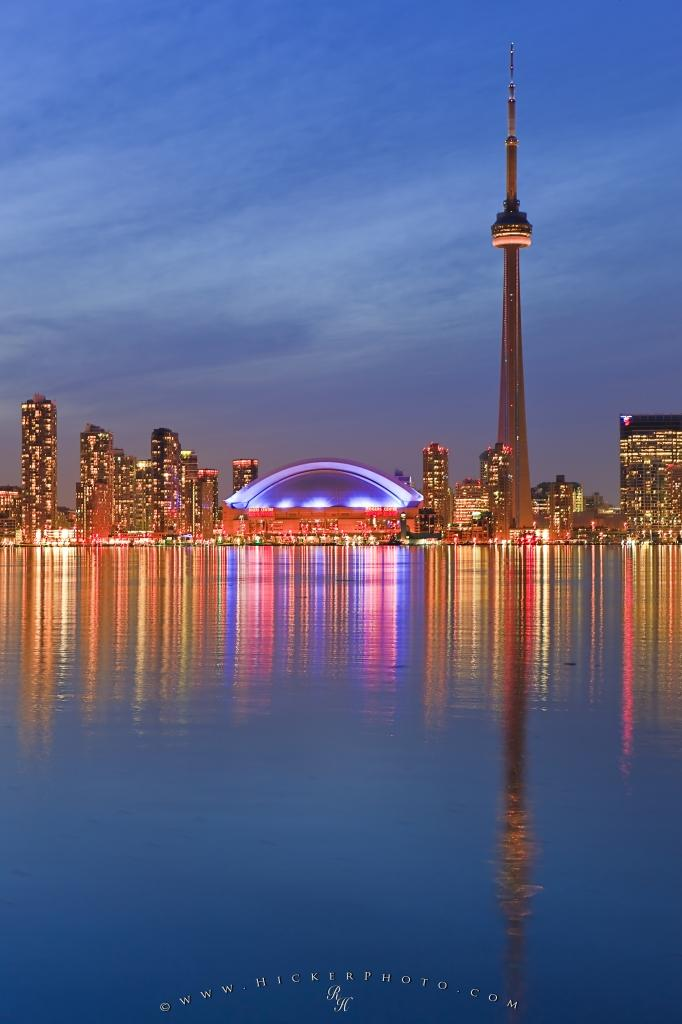 Illuminated Twilight Picture Toronto Skyline