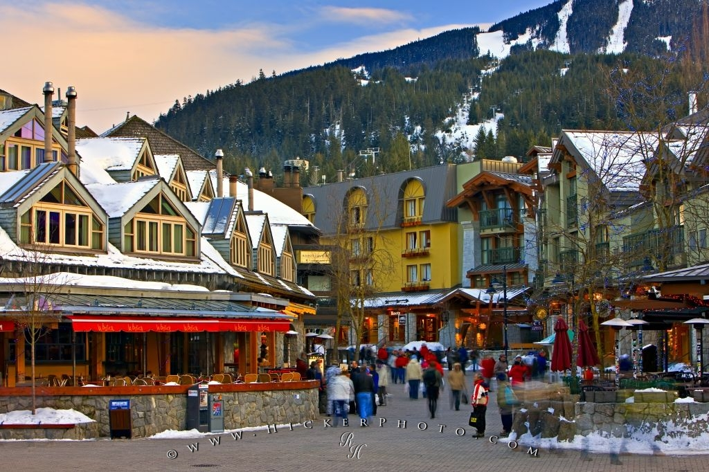 Village Stroll Pedestrian Zone Whistler British Columbia Canada