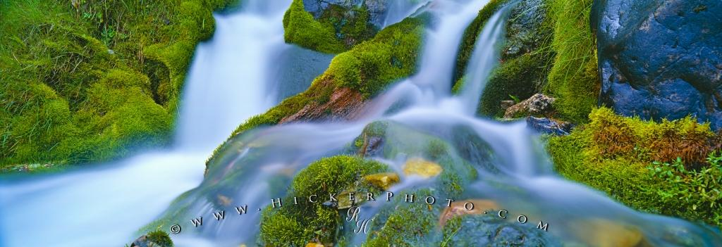 Panorama Rainforest Green Moss Waterfall Haida Gwaii