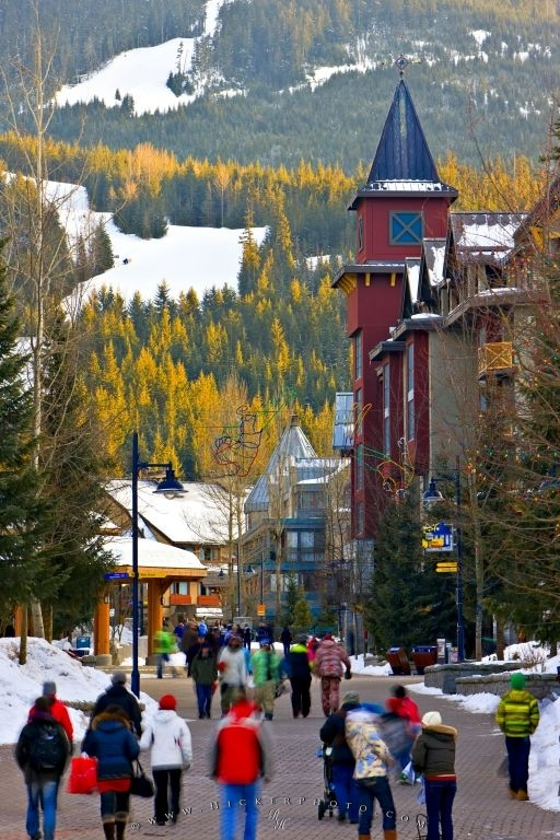 Whistler Village Resort Town British Columbia Canada