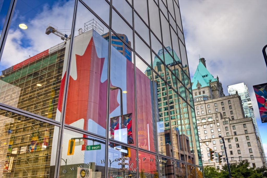 Window Reflections Downtown Vancouver