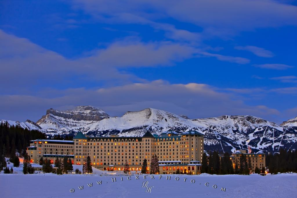 Fairmont Chateau Lake Louise Winter Landscape Picture