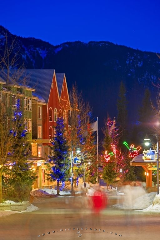 Winter Night Lighting Scene Whistler