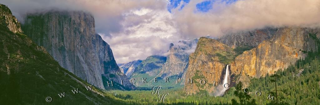 Panorama Yosemite Valley Bridal Veil Falls Yosemite National Park