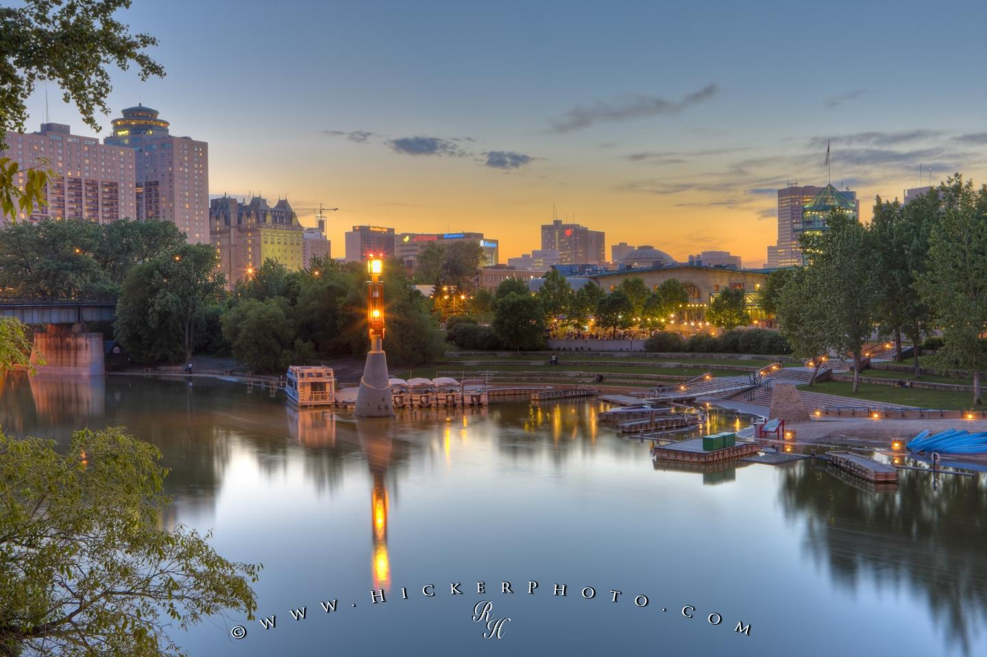 Free Computer Background: The Forks National Historic Site Winnipeg Manitoba Canada