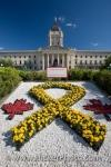 photo of Legislative Building Flower Rock Garden Winnipeg Manitoba Canada