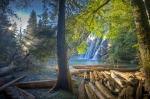 photo of Surreal Waterfall Scenic Picture Virgin Falls Vancouver Island