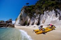 A guided kayaking tour along the Abel Tasman National Park coastline is a must do while on vacation in New Zealand.