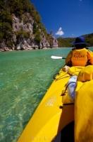 A great family vacation adventure during a visit to New Zealand is paddling the pristine waters of the Abel Tasman National Park during a sea kayaking Tour.