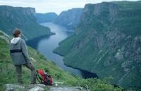 Photo of Western Brook Pond located in Gros Morne National Park in Newfoundland Canada
