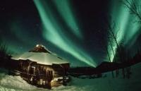 Stock Photo of a Aurora Borealis Location