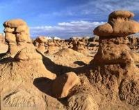 Butte formations in Goblin Valley State Park of Utah, USA.