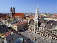 Photo of the Marienplatz in Munich in southern Bavaria, Germany