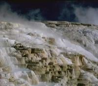 Stock Photo of Mammoth Hot Springs, Yellowstone National Park.