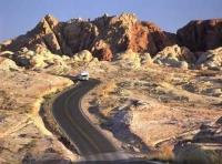 About 50 miles northeast of Las Vegas, Nevada is the Valley of Fire State Park