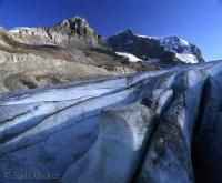 The Athabasca Glacier is part of the Icefield Parkway, which connects the Rocky Mountain Parks Banff and Jasper