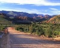 Desert Road Grootswart Mountains Africa Pictures