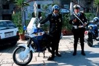 Two policeman in the town of Trani in Bari, Italy