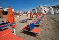 Sun Beds Vieste Italy Beach Vacations