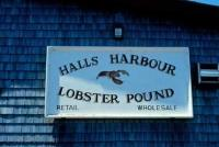 Halls Harbour Lobster Pound Sign