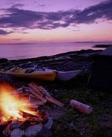 Stock photo of Outdoor Camping in Hare Bay of Newfoundland