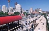 A popular Calgary vacation spot is the Calgary Stampede in Alberta, this photo shows the Park Trainstation