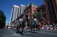 Photo of the calgary stampede opening parade in Downtown Calgary