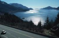The sea to sky highway between Vancouver and Whistler is a well known, beautiful but also very dangerous highway in British Columbia, Canada