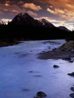 Whirlpool River situated in Jasper National Park is a great Rocky Mountain vacation spot in Alberta, Canada.