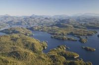 Stock Aerial Photograph of the Broughton Archipelago