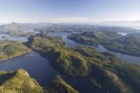 Stock Aerial Photo of Broughton Archipelago Provincial Marine Park