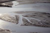 Mud Flats Kluane Lake Aerial Photo