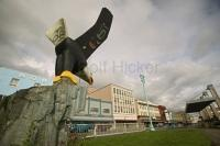 Eagle carving in Ketchikan Alaska.