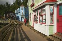Ketchikan is a busy cruise ship destination in summer and historic Creek Street is one of the main attractions