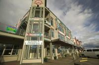 A popular activity during cruise ship vacation is shopping. Ketchikan in Alaska has a variety of shops including several souvenir stores.