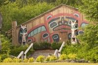 Every Painted Design is telling a story in the Saxman Totem Park in Ketchican, Alaska.