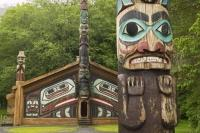 The Totem Bight park in Ketchikan, Alaska is a wonderful display of Northwest Coast Native American culture and their way of life.