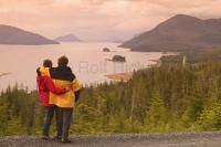 Tourists Overlooking Wrangell Alaska