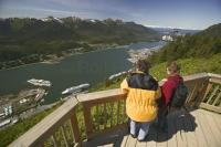 The city of Juneau is on the Alaska Marine Highway route and is also a popular cruise ship destination.