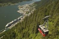 View from the Mount Roberts Tramway looking down into Juneau, Southeast Alaska
