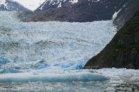 Photo of the impressive tidal glacier named Sawyer in Tongass National Forest near Juneau Alaska.