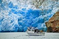 During Alaska glacier cruises be sure to book an excursion to travel to the Sawyer Glacier in the Tracy Arm Fjord.