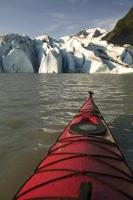 Kayaking on the Mendenhall Lake is a leisurely vacation option if you plan to travel to Juneau, Alaska