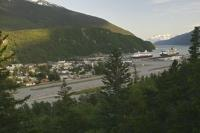 A popular cruise ship destination along the Inside Passage route of Alaska is the historic town of Skagway.