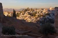 Albayzin District City Of Granada Sunrise Picture Andalusia Spain