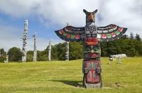 Totem Pole Park Alert Bay BC