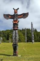Native Culture Alert Bay Totem Poles
