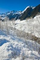 Alpine Winter Scenery Salzburger Land Austria