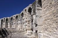 A testament to the design and architecture of ancient times, the walls of Les Arenes in Arles, Provence have been standing since the 1st century BC.