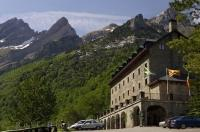 The Parador De Bielsa is a charming stone built mountain hotel situated in the Pyrenees mountain range in Huesca, Aragon in Spain, Europe.
